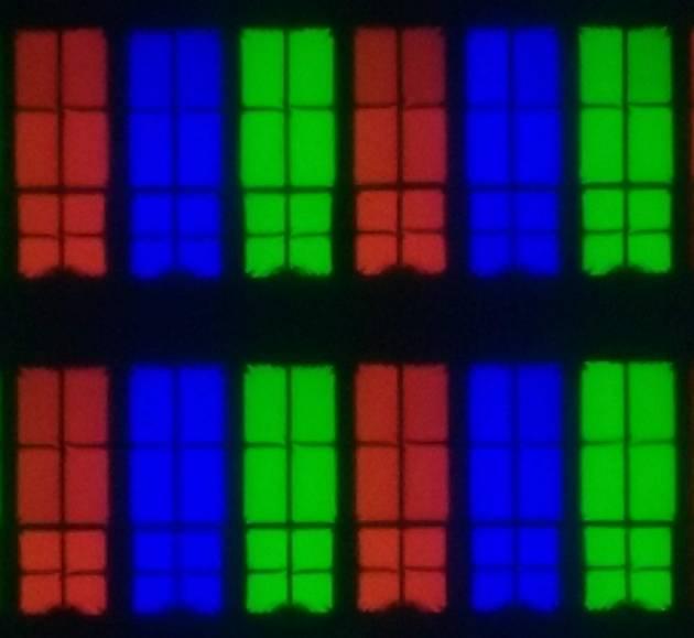 Samsung 49NU7172 - struktura subpixeli