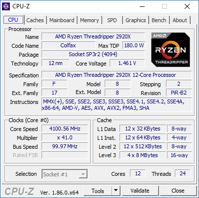 AMD Ryzen Threadripper 2920X - podkręcanie