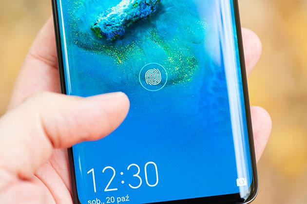 Huawei Mate 20 Pro czytnik linii papilarnych w ekranie