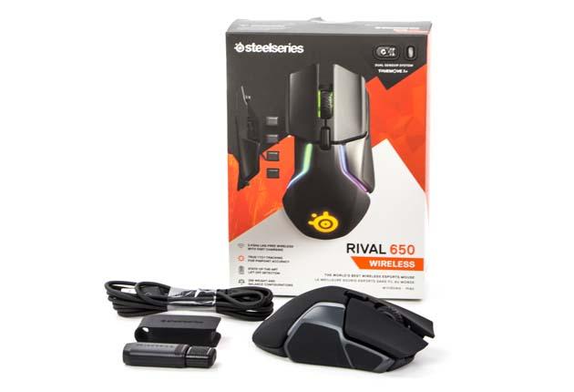 SteelSeries Rival 650 - zawartość opakowania