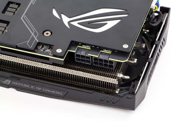 ASUS ROG STRIX RTX 2070 O8G GAMING - backplate i gniazda zasilania