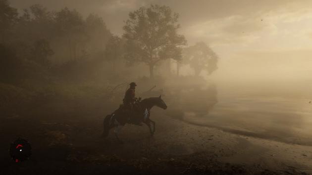 Red Dead Redemption 2 - klimatyczna mgła