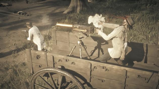 Red Dead Redemption 2 - zwolnione zbliżenia trafień