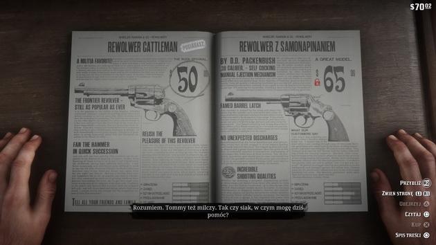 Red Dead Redemption 2 - zakupy w sklepach
