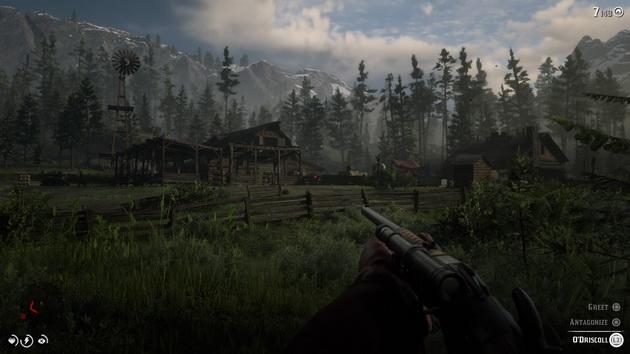 Red Dead Redemption 2 - widok z pierwszej osoby