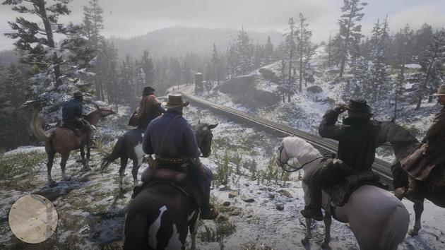 Red Dead Redemption 2 - oczekiwanie na przyjazd pociągu