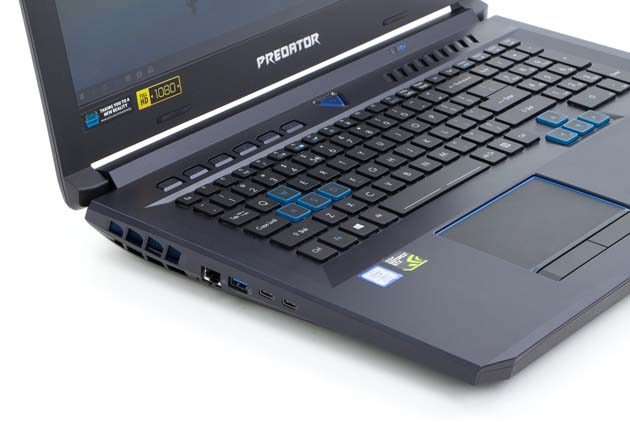 Acer Helios 500 lewy bok