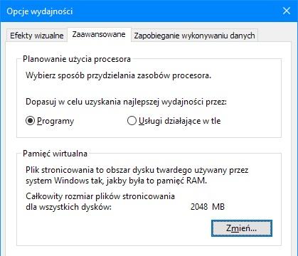 Windows 10 plik stronicowania