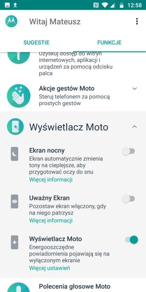 Motorola Moto G6 wyświetlacz
