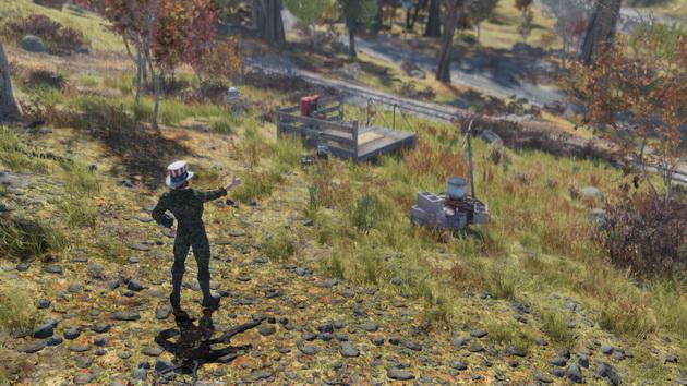 Fallout 76 - bohater w amerykańskim kapeluszu