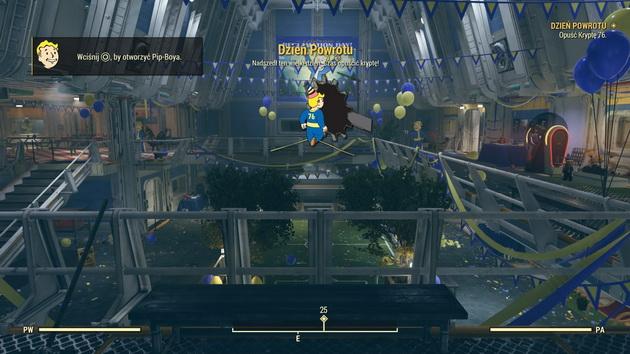 Fallout 76 - wyjście ze schronu