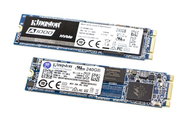 Kingston A1000 i UV500 - SSD M.2