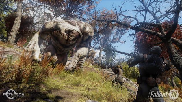 Fallout 76 - szarżujący mutant