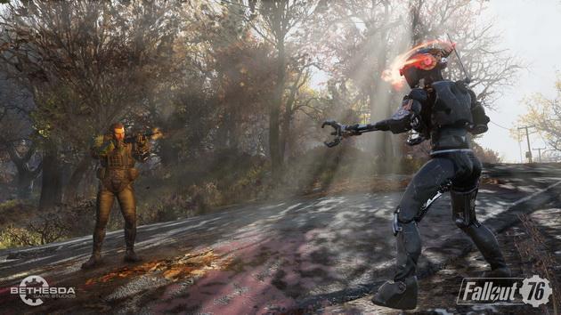 Fallout 76 - walka z robotem