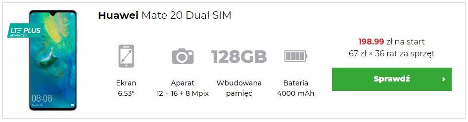 Huawei Mate 20 w abonamęcie