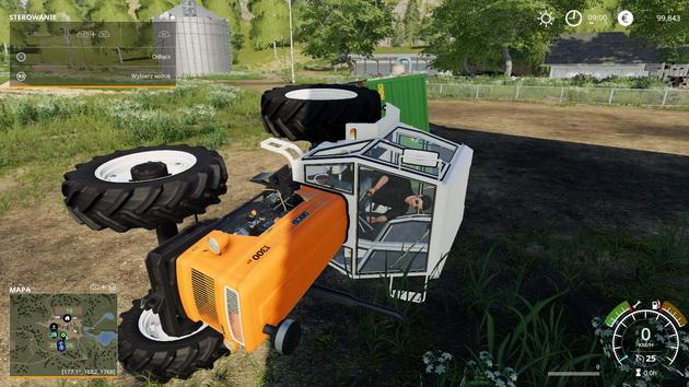 Farming Simulator 19 - przewrócony traktor