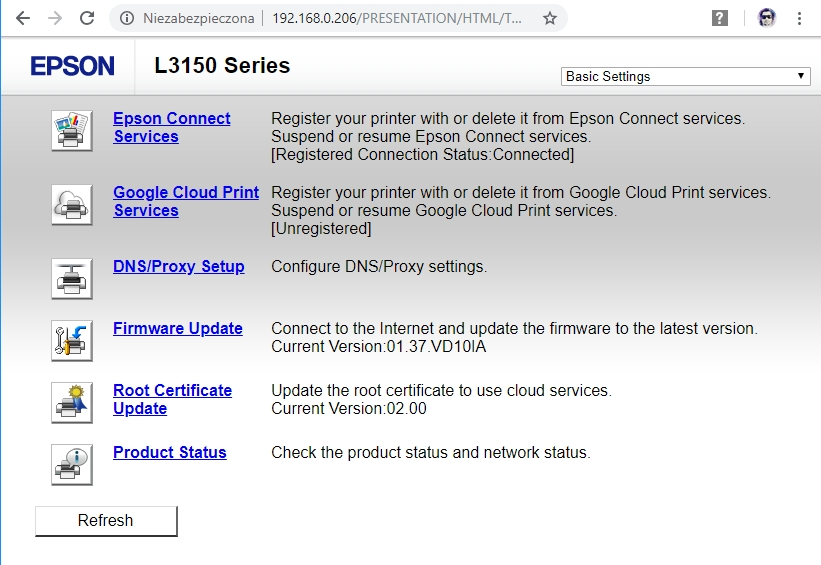 Epson konfiguracja drukarki