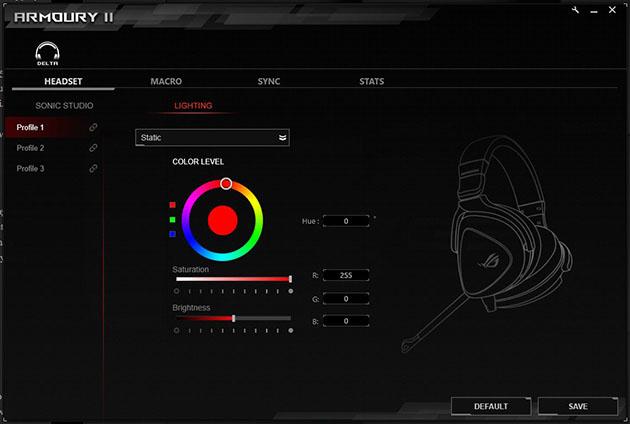 ROG Armoury - sterowanie oświetleniem RGB