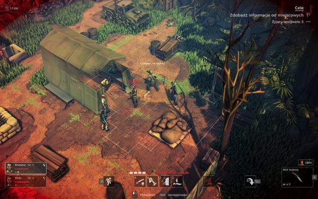 Jagged Alliance: Rage! - shadow przed namiotem