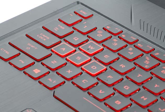Asus TUF Gaming FX705GD-EW070 klawisze WASD