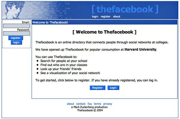 TheFacebook - początek portalu