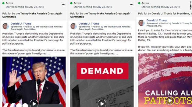 Kampania Donalda Trumpa na Facebooku