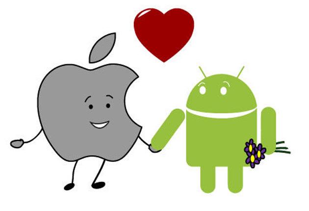 iphone android miłość