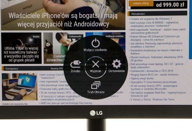 LG 24MK400H-B - menu OSD