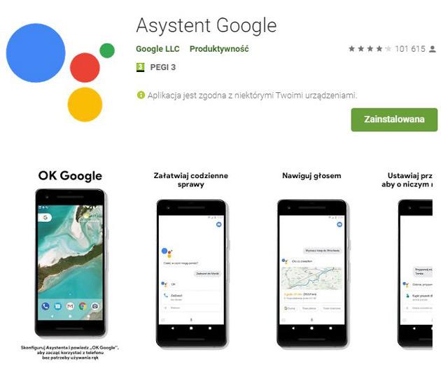 Google Asystent - Sklep Google Play