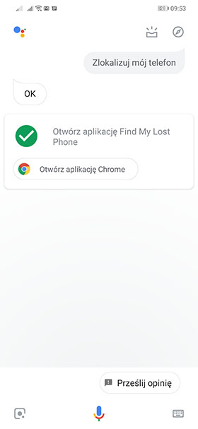 Znajdź telefon - Google Asystent