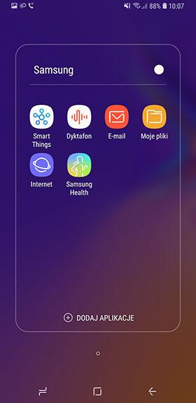 aplikacje Samsung