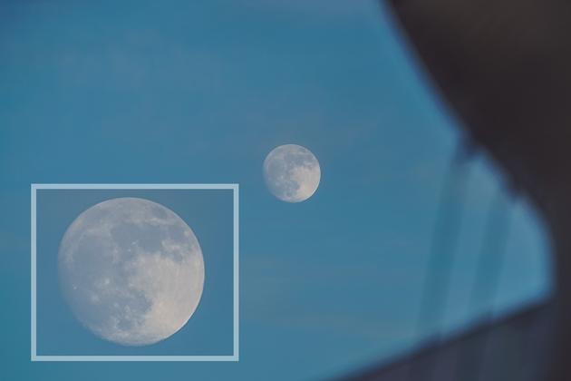 Księżyc w obiektywie 400 mm