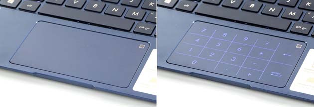 Asus ZenBook UX433 touchpad