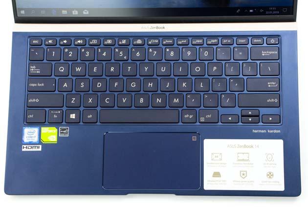 Asus ZenBook UX433 klawiatura