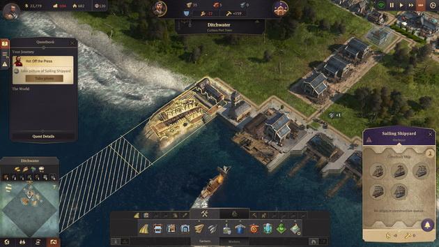 Anno 1800 - stocznia i możliwości budowy statków