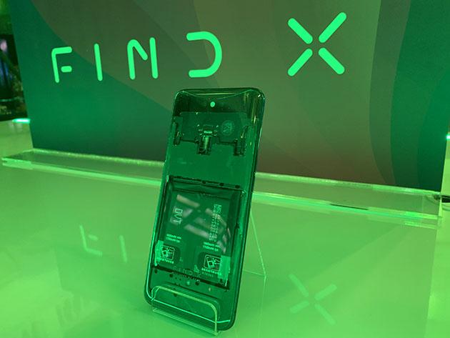 OPPO Find X z przezroczystym tyłem