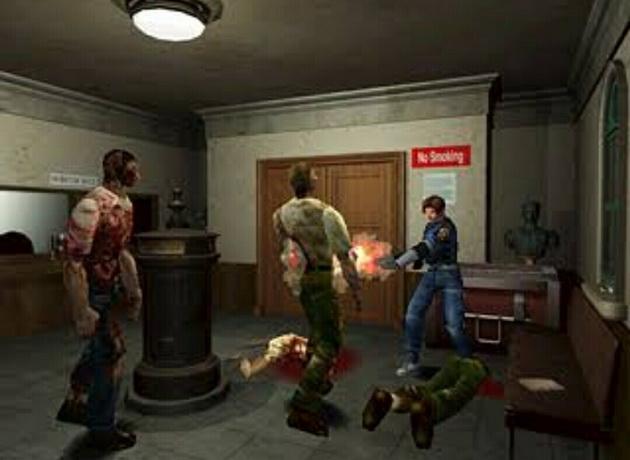 Resident Evil 2 - zdjęcie pochodzące z oryginalnej gry z 1998 roku