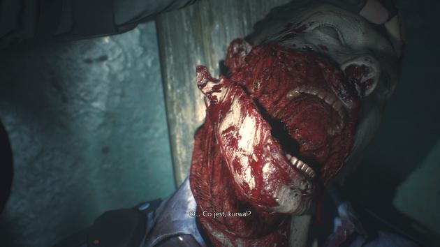 Resident Evil 2 remake - zbliżenie zombie