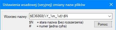 IrfanView wzorzec nazwy