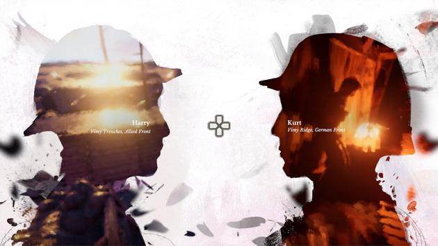 11-11: Memories Retold - ekran wyboru bohatera, którego losy chcemy w danej chwili śledzić
