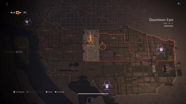 The Division 2 - mapa