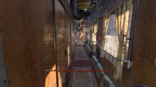 Metro Exodus - wagon pasażerski w Aurorze