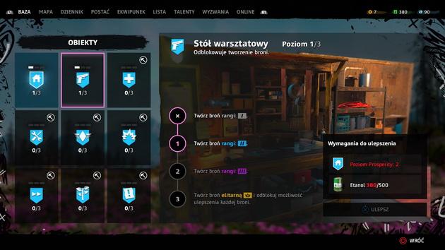 Far Cry New Dawn - rozwój warsztatów