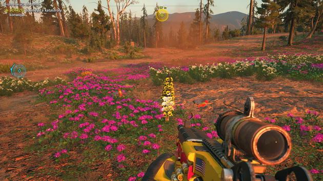 Far Cry New Dawn - roślinność i kolibry