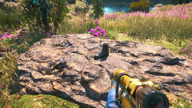 Far Cry New Dawn - but na kamieniu. Świstoklik?