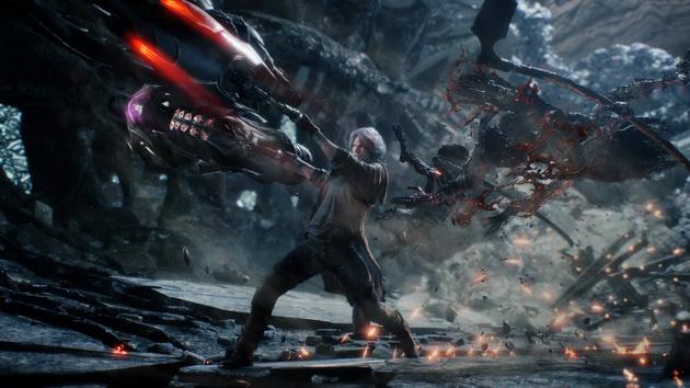 Devil May Cry 5 - siwowłosy Dante