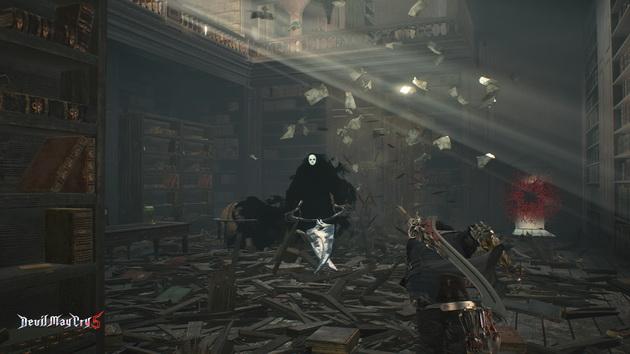 Devil May Cry 5 - Nero z demon z nożycami
