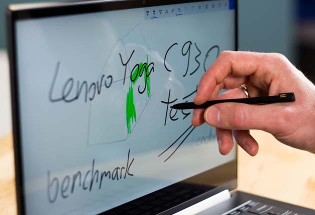 Lenovo Yoga C930 obsługa piórkiem