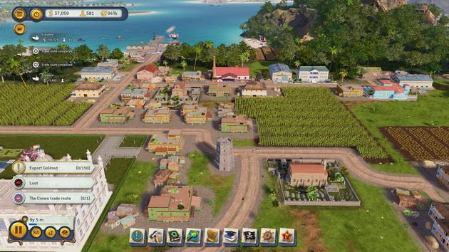 Tropico 6 - interfejs użytkownika