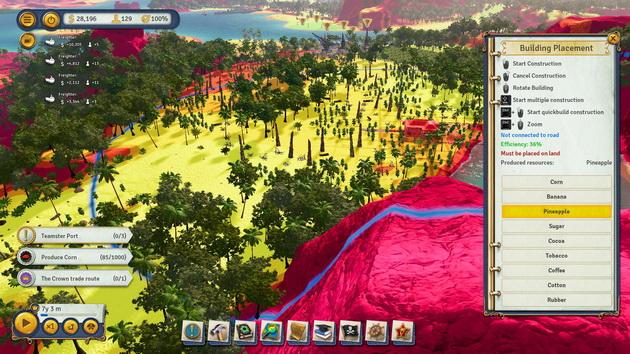 Tropico 6 - ustawianie budynków
